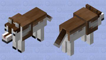 Brown-Husky Wolf Minecraft Mob Skin
