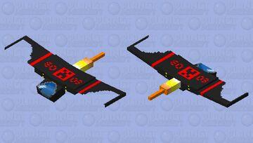 Spaceship Phantom Minecraft Mob Skin