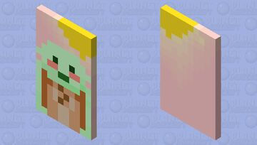 Cute Baby Shrek in the pink sunset Minecraft Mob Skin