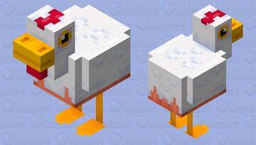 Fall Guys Chicken Minecraft Mob Skin