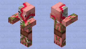 Bloody pigman head! Minecraft Mob Skin