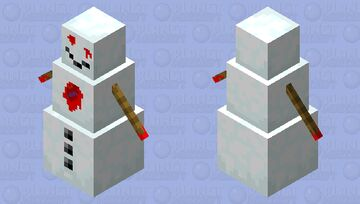 Horror Snowman Minecraft Mob Skin