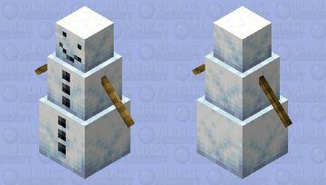 Derpy Version of dreamCritting's Snow Golem Minecraft Mob Skin