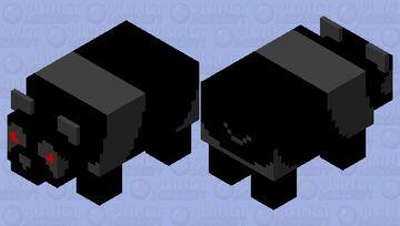 Aggressive Dark Panda Minecraft Mob Skin