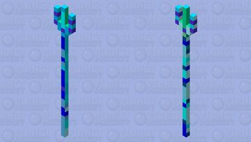 Blue Aura Tridentia Minecraft Mob Skin
