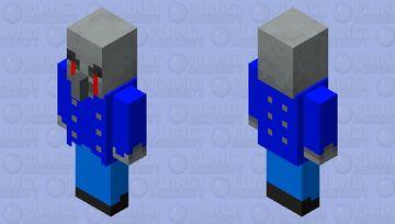 Red eye  vindicator Minecraft Mob Skin