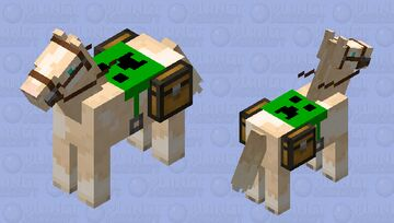 Pinto horse with creeper saddle Minecraft Mob Skin