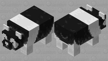 Inverted panda Minecraft Mob Skin