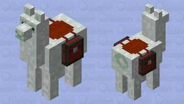 snowy lama Minecraft Mob Skin