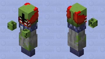 Tricky the clown / Version 2 / zombie / From: madness combat / remade Minecraft Mob Skin
