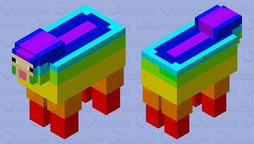 rainbow sheep Minecraft Mob Skin