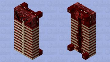 Bed of Flesh With Exposed Ribcage - Bedrock Minecraft Mob Skin