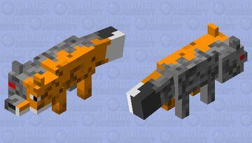 Half Robotic Fox Minecraft Mob Skin