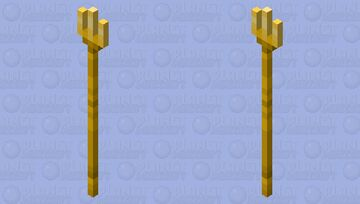 Butter trident(tried to make it look like it's made of gold instead of butter) Minecraft Mob Skin