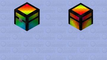 Rainbow chest Minecraft Mob Skin