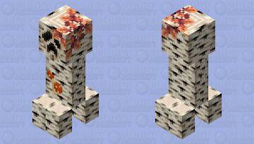 Realistic Birch Creeper (Realistic Creeper Edit) Minecraft Mob Skin