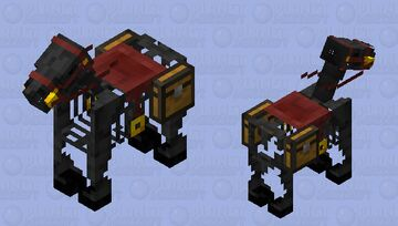 Wither Skeleton Horse Minecraft Mob Skin