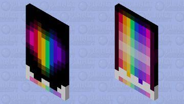 Rainbow Undertale heart cape Minecraft Mob Skin