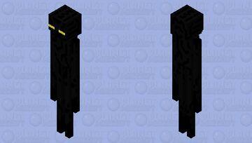 Yellow-eyed enderman Minecraft Mob Skin