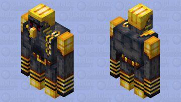 Brute Gold Golem - Basalt Deltas Biome Minecraft Mob Skin