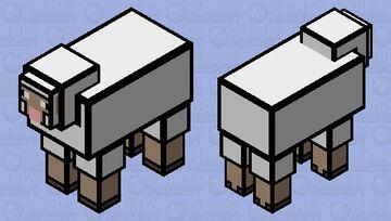 Cartoon Sheep Minecraft Mob Skin