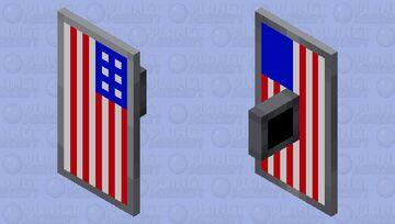 American flag shield Minecraft Mob Skin