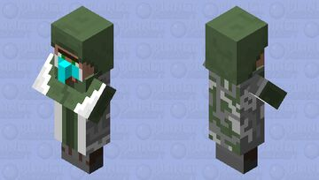 A Half Army And Doctor Villager Minecraft Mob Skin