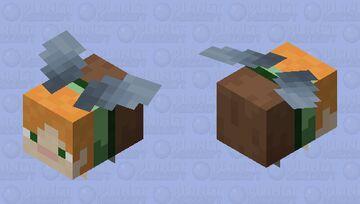 Alex wearing an Elytra Minecraft Mob Skin