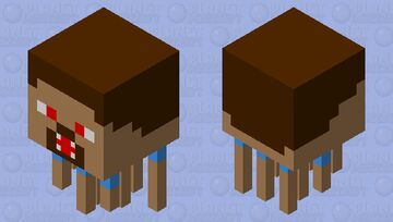 Ghast Steve disparando Minecraft Mob Skin