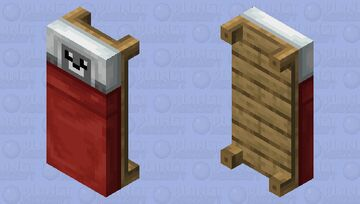 Seal sleep in a bed (for bedrock) Minecraft Mob Skin
