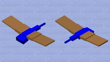 Blue Brown Winged Phantom (endangered species) Minecraft Mob Skin