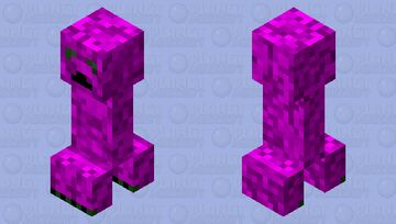 Cool Ender Creeper Minecraft Mob Skin