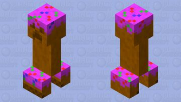 The Cake Surprise ( Cake Creeper ) Minecraft Mob Skin