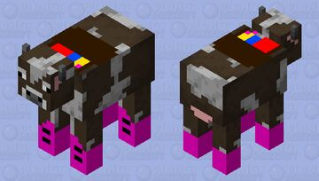 school cow( Rocking the shoes) Minecraft Mob Skin