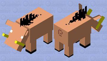 Simplistic Hoglin Minecraft Mob Skin