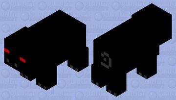 Dark Pig Minecraft Mob Skin