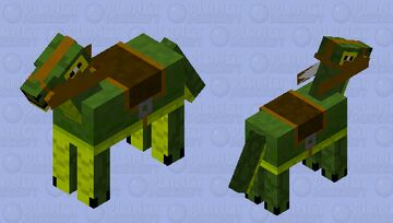 And before horses, people rode Iguanodons... Minecraft Mob Skin
