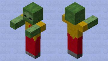 Mc. Donalds employee zombie Minecraft Mob Skin