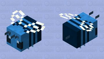 Blue Bee Minecraft Mob Skin