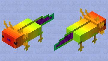 raynboe axolotl Minecraft Mob Skin