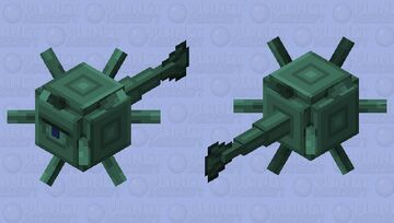 Smooth Elder Guardian / Dark Prismarine Guardian Minecraft Mob Skin