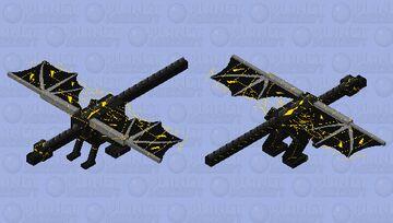 Electric Dragon Minecraft Mob Skin