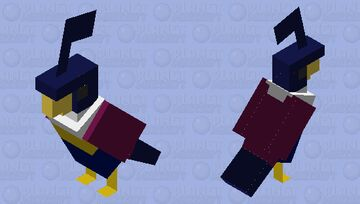 Shiny Chatot Minecraft Mob Skin