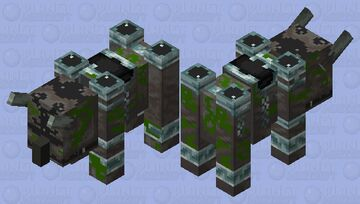 Old Ravager statue (monument of pillage) Minecraft Mob Skin