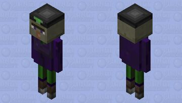 why is dat witch not throwing potions Minecraft Mob Skin