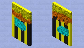 Bee Cape by BurlingtonESRC Minecraft Mob Skin