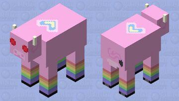 Strange rainbow cow Minecraft Mob Skin