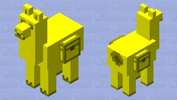 Golden Llama Minecraft Mob Skin