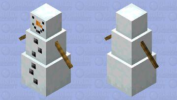 More realistic snowman Minecraft Mob Skin