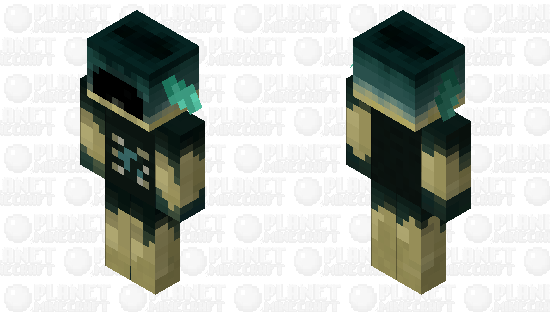 Warden Style Piglin Minecraft Skin